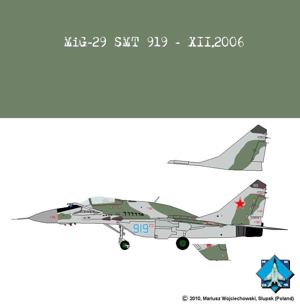 Colors of the MiG-29  Mikoyan & Gurevich MiG-29 camouflage